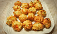 Yum Alert: Red Pepper Asiago Gougere Bites
