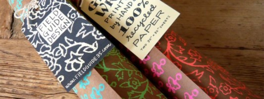 Etsy Spotting: Hand-crafted Gift Wrapping Paper