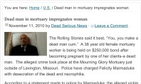 Dead Man Impregnates Woman… screenshot of the day