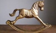 Etsy Spotting: Vintage Brass Rocking Horse