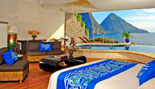 Luxury Hotel In The Caribbean Jade Mountain Resort