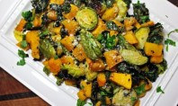 Yum Alert: Parmesan Roasted Brussels, Butternut Squash And Kale