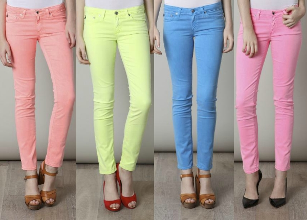 Neon Jeans are the Hottest Trend of 2012