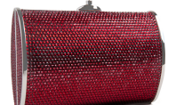 Purse Spotting: Cherry Bomb Clutch by Judith Leiber