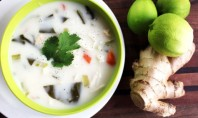 Yum Alert: Coconut-Lime Chicken Tofu-Noodle Soup