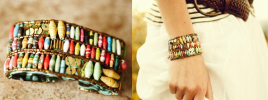 Accessory Spotting: Recycled Handmade Bracelet That Empowers Women