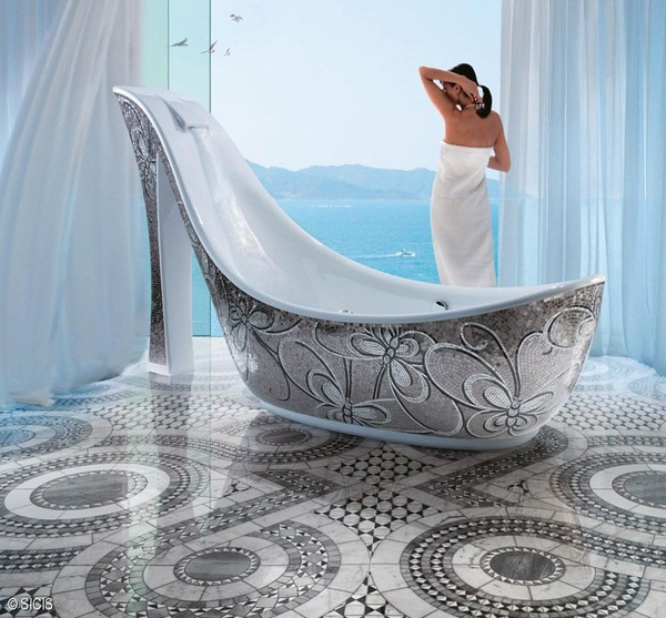 For. High heel bathtub