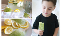 Yum Alert: Lemonade Cucumber Spa Popsicles