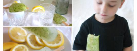 Yum Alert: Lemonade Cucumber Spa Popsicles