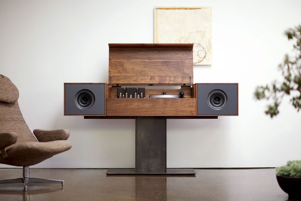 This modern record console table is not only a beautiful piece of ...