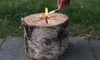 Bonfire Log Makes Outdoor Entertaining a Cinch