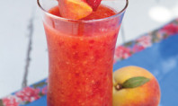 Yum Alert: Peach Melba Daiquiri