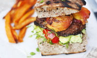 Yum Alert: Portobello & Peach Burger
