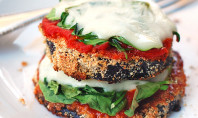 Yum Alert: Cheesy Baked Eggplant Pizza