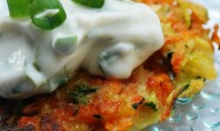 Yum Alert: Summer Vegetable Pancakes with Basil Chive Cream