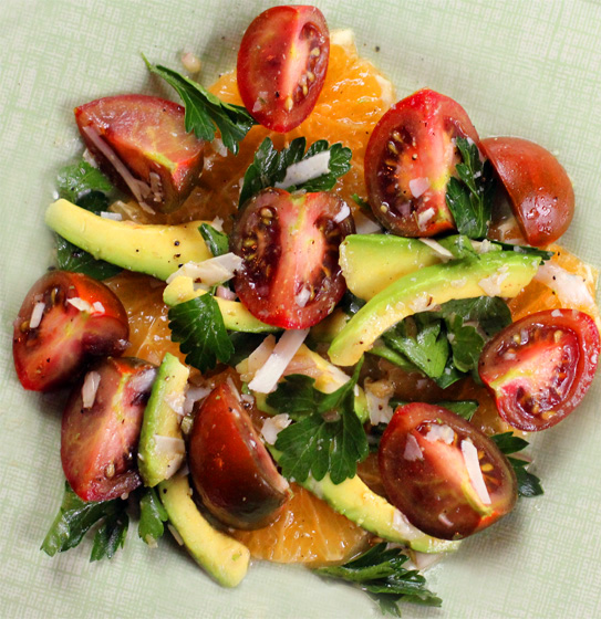 Yum Alert: Florida Tangelo, Avocado, & Heirloom Tomato Salad