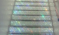 Decor Spotting: Glittery Disco Stairs
