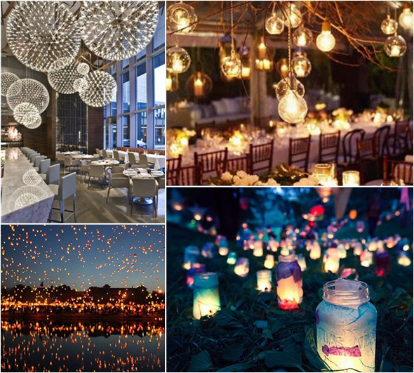 Unique wedding lighting | The Luxury Spot