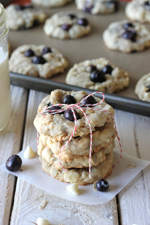 ... blueberries and white chocolate chips chocolate chip cookies half