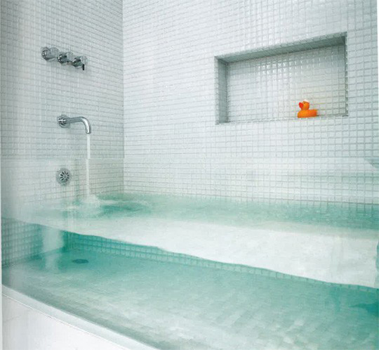 invisible bath tub bathing
