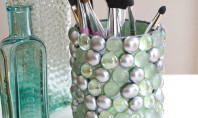 DIY bathroom storage bling