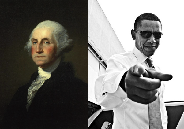 George Washington vs. Obama presidents