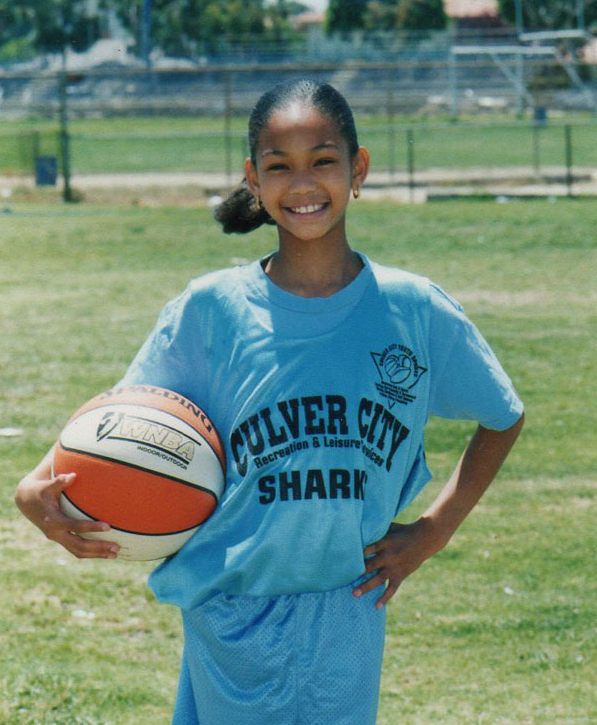 Chanel Iman as a child supermodel