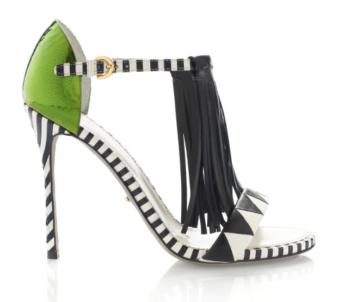 Sergio Rossi shoes fringe heels