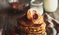 Whole Grain Pumpkin Pancakes fall