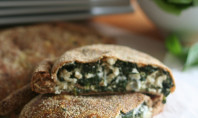 cheesy spinach calzone
