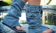 WTF Spotting: Vintage Denim Boot Sandals
