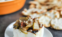 broiled feta caramelized pears