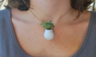 Style Spotting: A Plant You Can Wear On Your Neck