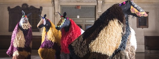 Art Spotting: Nick Cave Soundsuit in Grand Central