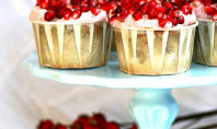 pomegranate green tea cupcakes