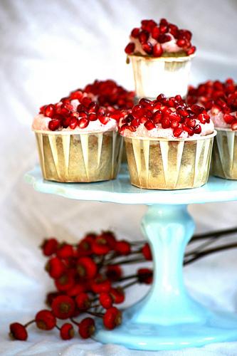 pomegranate green tea cupcakes