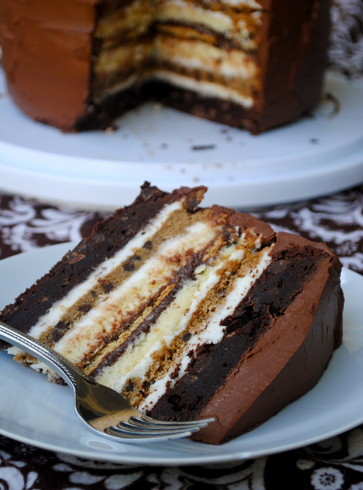 cookie brownie smores cake
