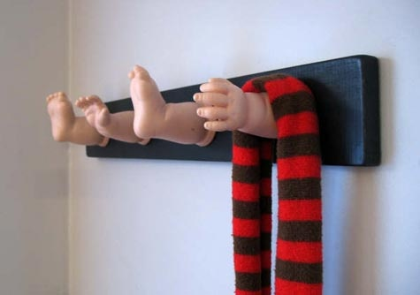 baby limbs creepy coat rack