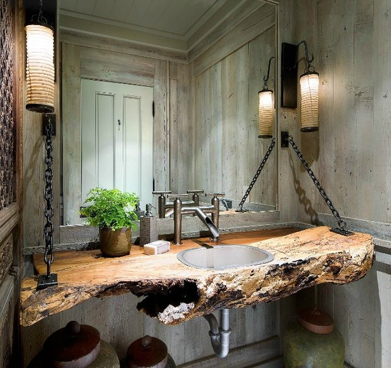 Rustic bathrooms for Bathroom designs rustic