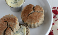 Yum Alert: Maple Walnet Buckwheat Scones with Honeyed Sage Butter