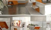 futuristic modern living