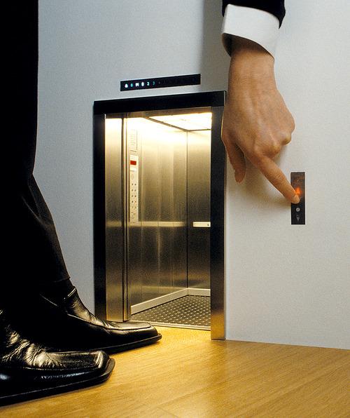 Maurizio cattelan for 1 story elevator