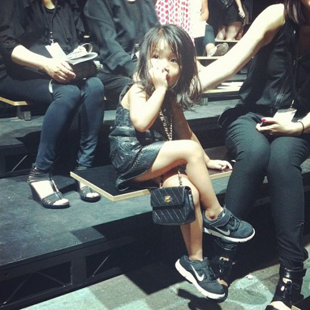 Alia Wang front row