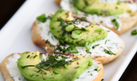 Yum Alert: Canapes with Garlic Herb Cream Cheese and Avocado