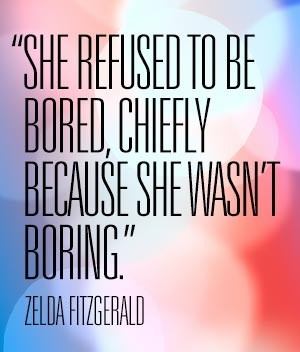 how to not be boring