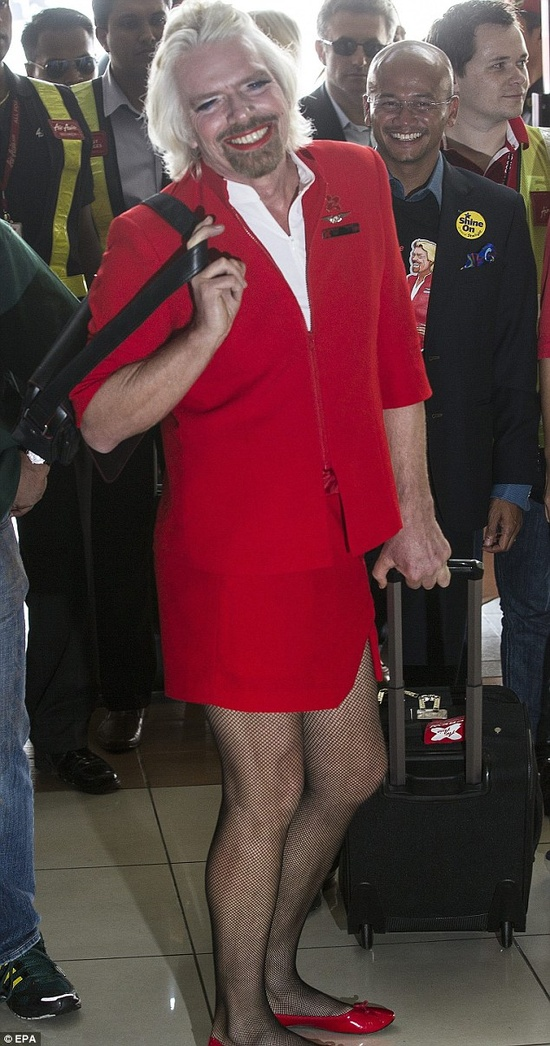 Richard Branson in drag