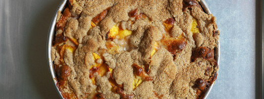 Gluten-Free Peach Brown Butter Buckle