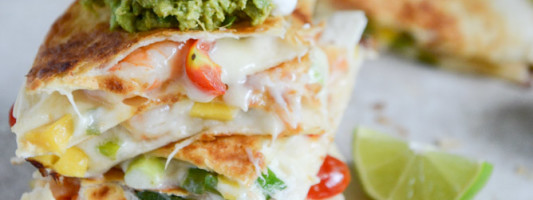 Yum Alert: Chipotle Beer Shrimp Quesadillas