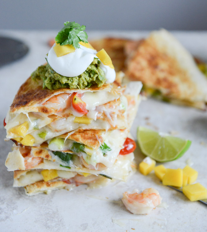 Chipotle Beer Shrimp Quesadilla RecipeThe Luxury Spot