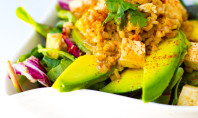 Yum Alert: Spicy Peanut Tofu & Avocado Salad